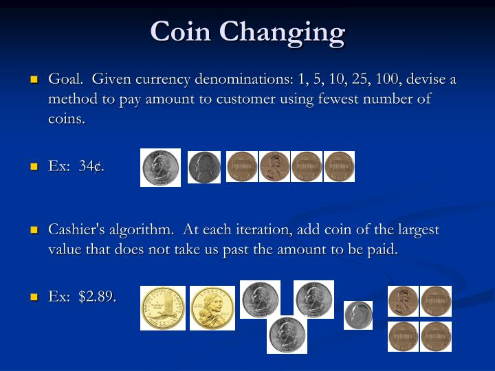 Coin Changing
