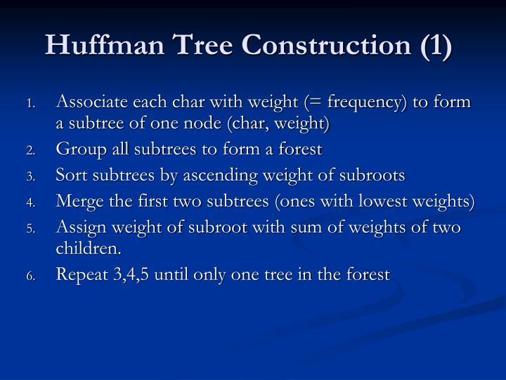 Huffman Tree Construction (1)