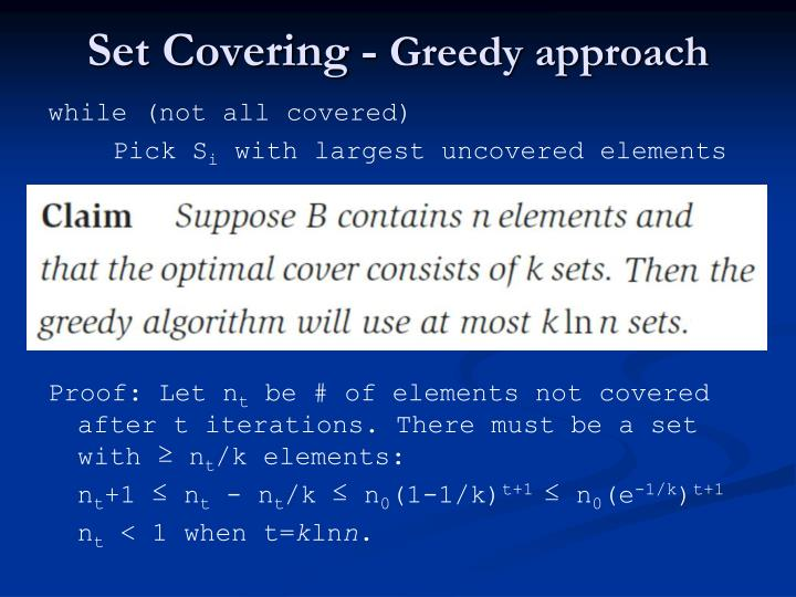 Set Covering -