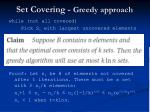 set covering greedy approach