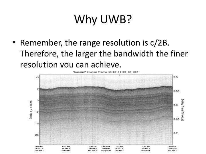 Why UWB?