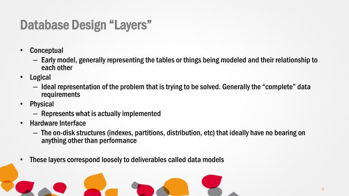 "Database Design ""Layers"""