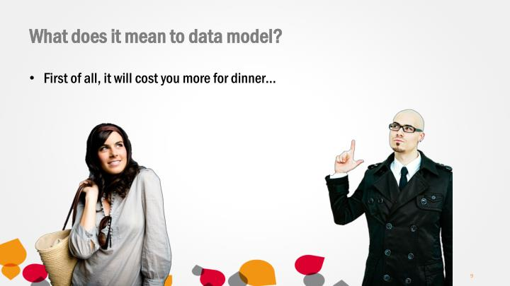What does it mean to data model?