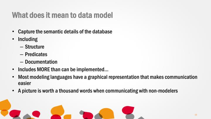 What does it mean to data model