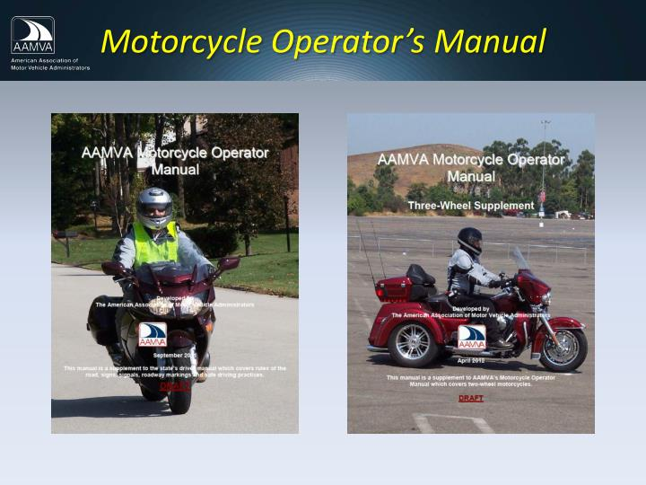Motorcycle Operator's Manual