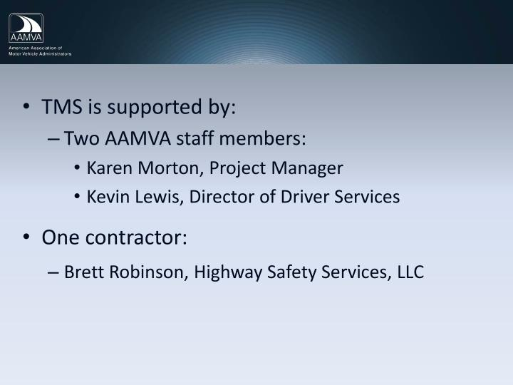 TMS is supported by: