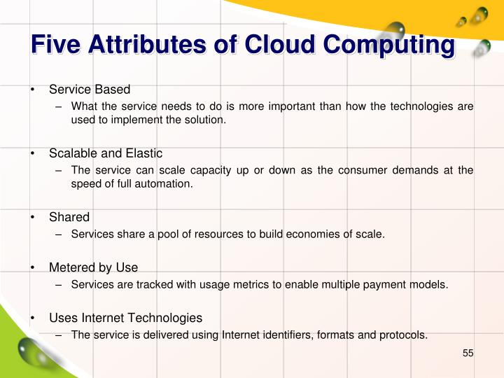 Five Attributes of Cloud Computing