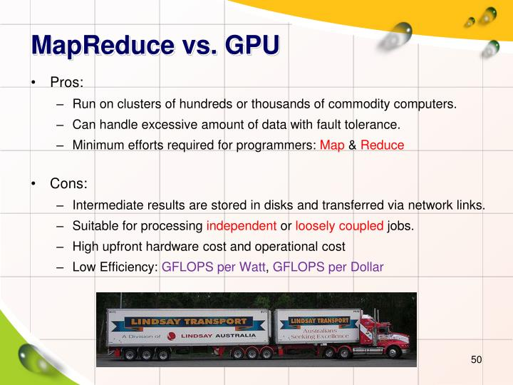 MapReduce vs. GPU