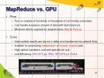 mapreduce vs gpu