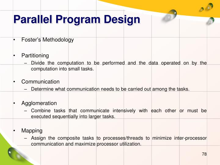 Parallel Program Design
