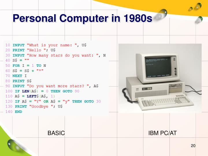 Personal Computer in 1980s