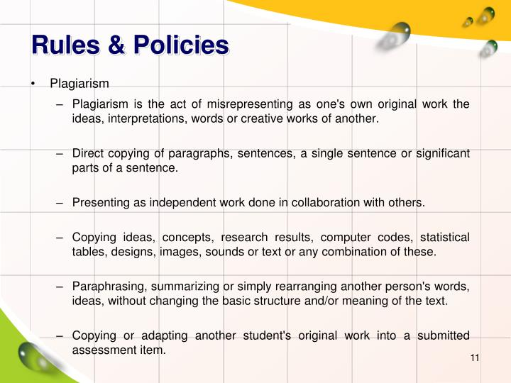 Rules & Policies