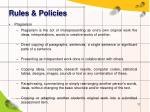 rules policies