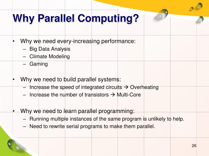 Why Parallel Computing?