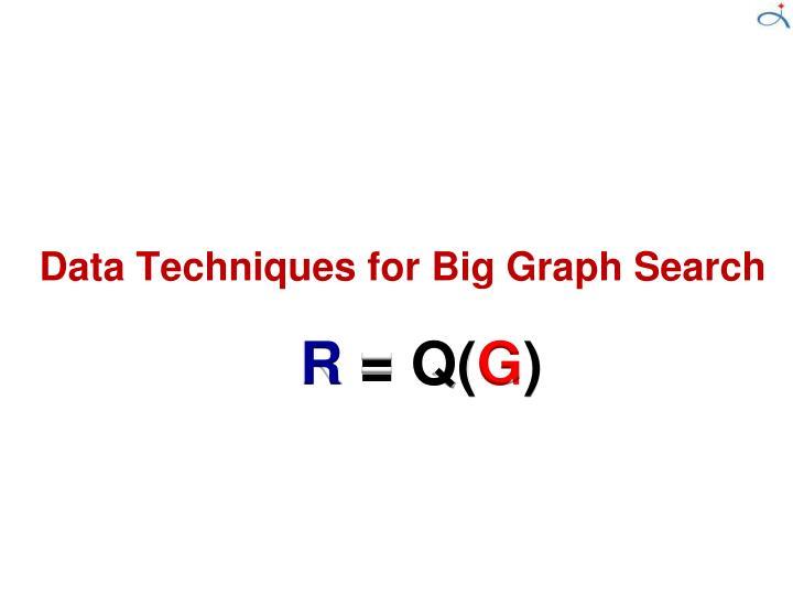 Data Techniques for Big Graph Search