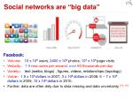 social networks are big data