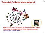 terrorist collaboration network