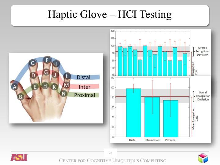 Haptic Glove – HCI Testing