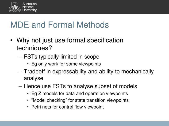 MDE and Formal Methods