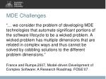 mde challenges