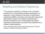 modelling and software engineering