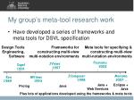 my group s meta tool research work
