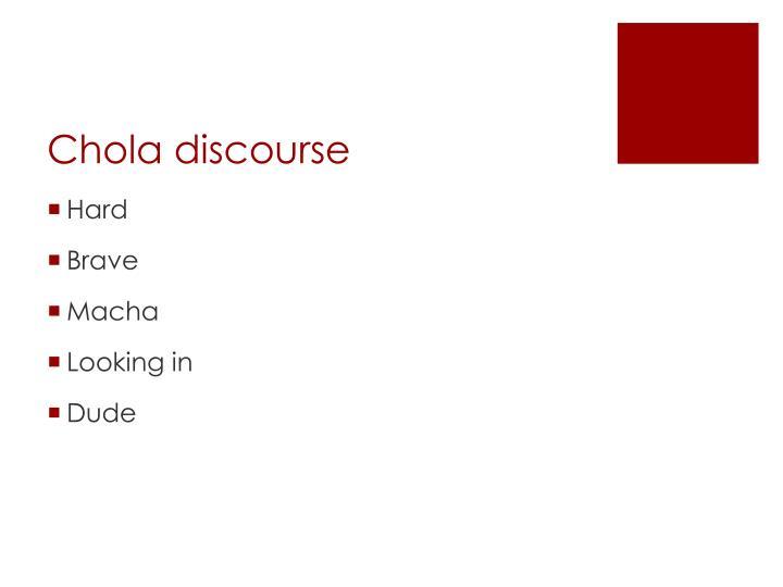 Chola discourse