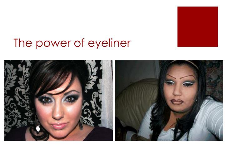 The power of eyeliner