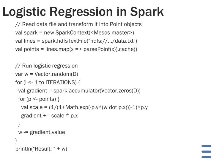 Logistic Regression in Spark