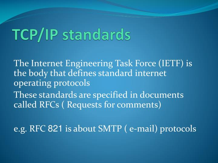 TCP/IP standards