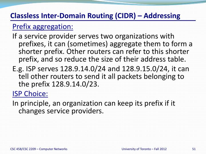Classless Inter-Domain Routing (CIDR