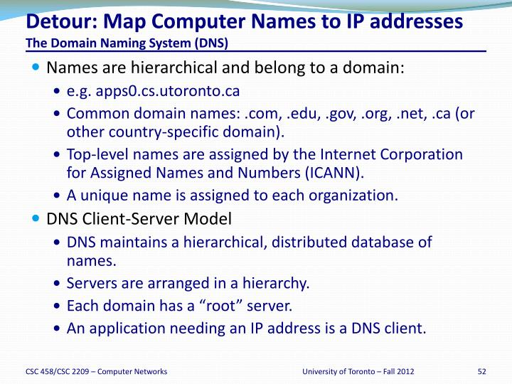 Detour: Map Computer Names to IP addresses