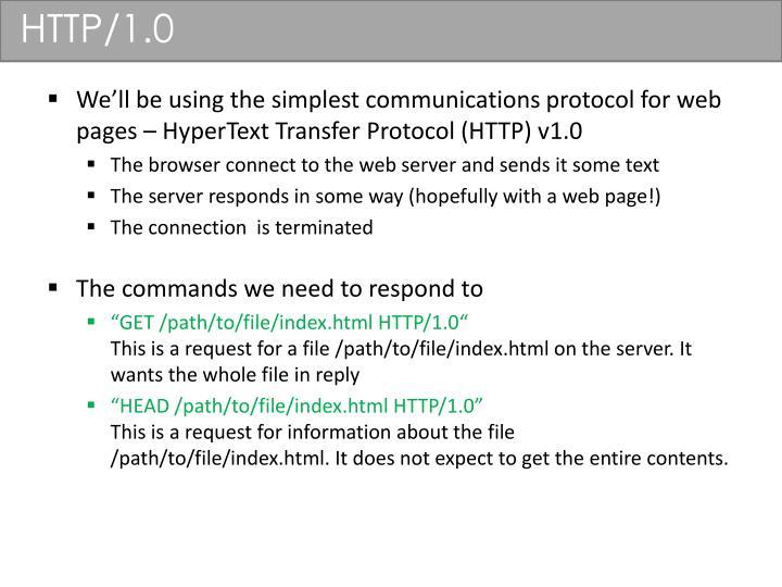HTTP/1.0