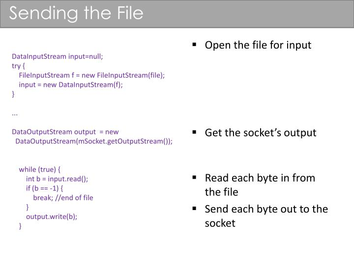 Sending the File