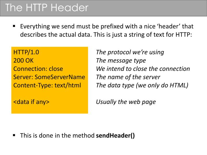 The HTTP Header