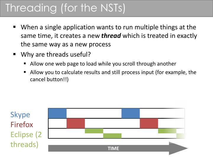 Threading (for the NSTs)