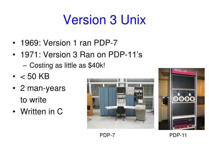 Version 3 Unix