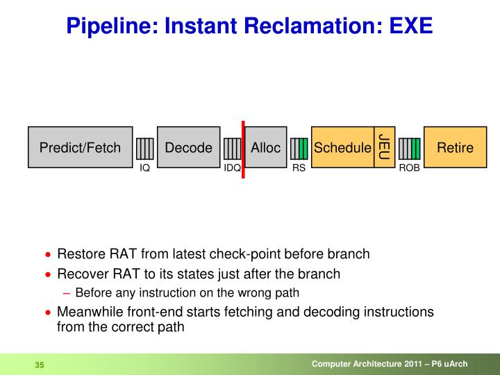 Pipeline: Instant Reclamation: EXE