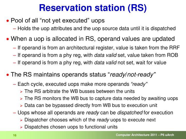Reservation station (RS)