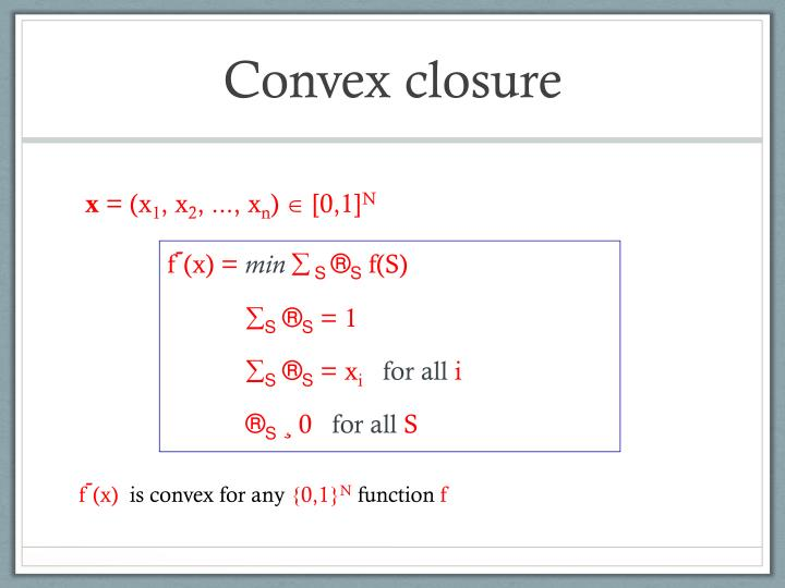 Convex closure
