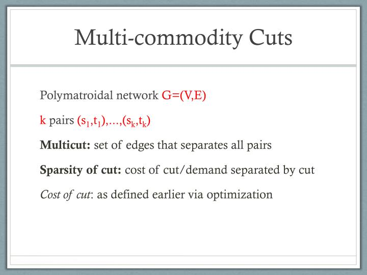 Multi-commodity Cuts