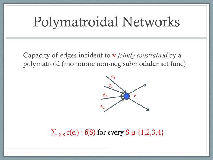 Polymatroidal