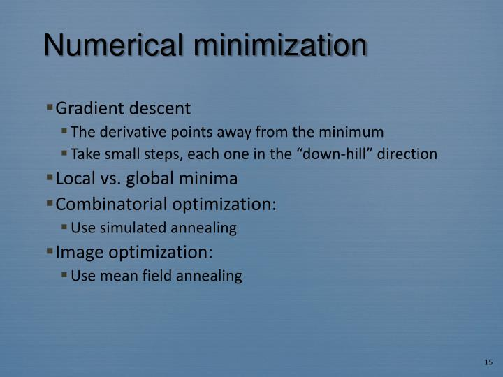 Numerical minimization