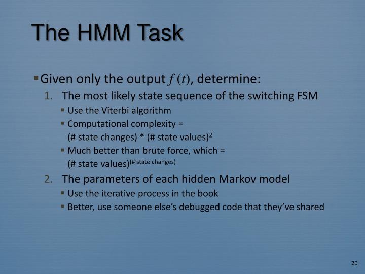 The HMM Task