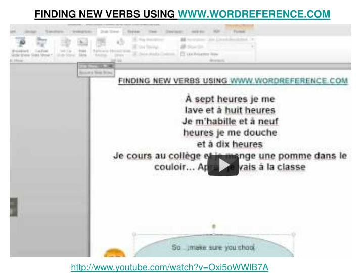 FINDING NEW VERBS USING