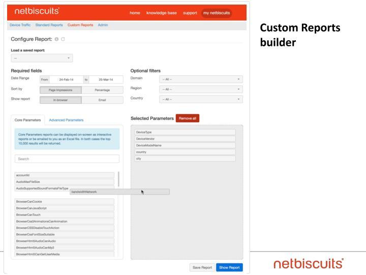 Custom Reports builder