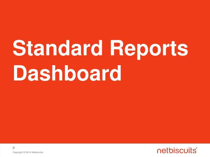 Standard Reports Dashboard