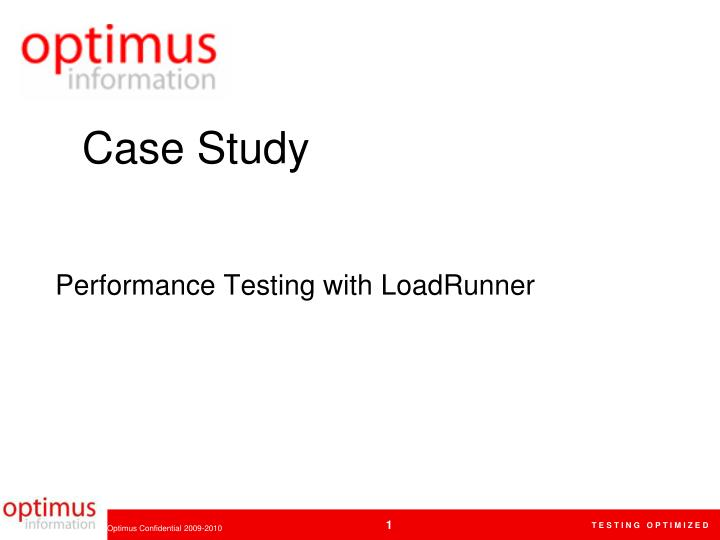 Performance testing with loadrunner