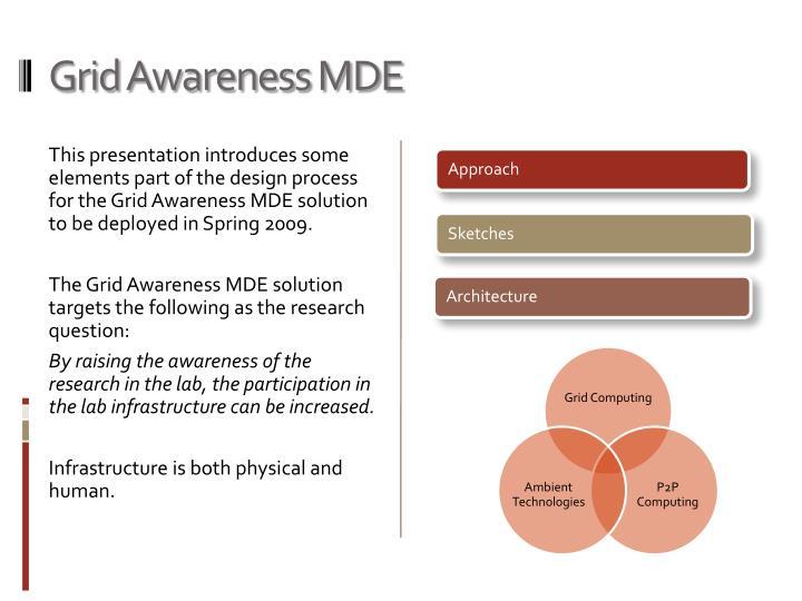 Grid Awareness MDE