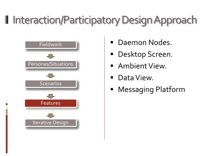 Interaction/Participatory Design Approach